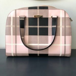 Kate Spade Pink Plaid Purse